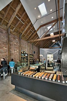 Great space + materials at at Craftsman + Wolves bakery in San Francisco. Zack | de Vito Architecture + Construction
