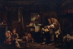 Sir Luke Fildes - The widower - Google Art Project - Realism (arts) - Wikipedia, the free encyclopedia