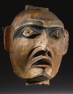 Kwakiutl Polychrome Wood Mask | Lot | Sotheby's