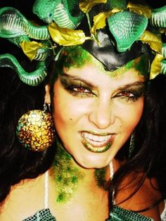 medusa halloween costume face paint