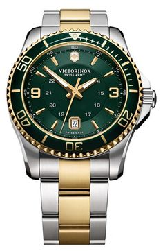 Victorinox Swiss Army® 'Maverick GS' Two Tone Watch, 43mm
