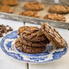 These Grain Free Double Chocolate Cookies are Nut Free, and Gluten Free. They are made with paleo-friendly tapioca flour, and coconut flour. They have a wonderful crispy outside and a chewy middle.
