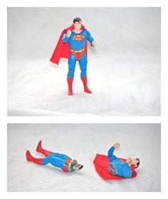 Flash drive from Vintage Superman action figure via Cool Mom Tech