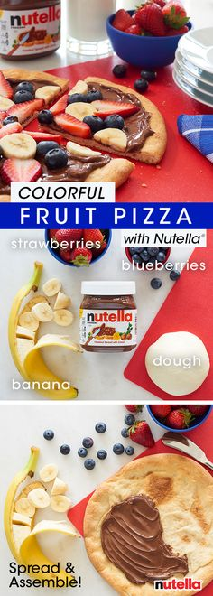 How do you take a classic, all-american dish to the next level? Swap out pizza sauce with Nutella® and top with fresh fruit. So delicious, no matter how you slice it.