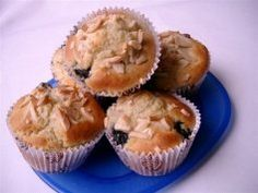 Pear Blueberry And Almond Muffins Recipe - Lunch box