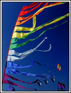 Colorful windsocks by © Michael A. Briggs