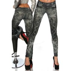 Cheap jeans Buy Quality jean shorts directly from China jean women Suppliers: Summer Style Leggins Women Thin Leggings Seamless Imitate Jeans Jeggings Lady's Mid-Waist Gradient Print Pants Trousers capris Mode Des Leggings, Women's Leggings, Jeggings, Leggings Are Not Pants, Print Leggings, Cheap Leggings, Cheap Jeans, White Leggings, Leather Leggings