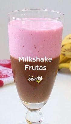 Milkshake de Frutas – Healthy Life Styles Tips Smoothie Prep, Good Smoothies, Fruit Smoothies, Smoothie Recipes, Milkshake, Menu Dieta, Fat Burning Detox Drinks, Weight Loss Detox, Lose Weight