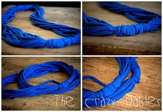 No Sew, Easy Peasy Circle Scarf! Circle Scarf, Easy Peasy, Tassel Necklace, Diy Projects, Sewing, Dressmaking, Couture, Stitching, Handyman Projects