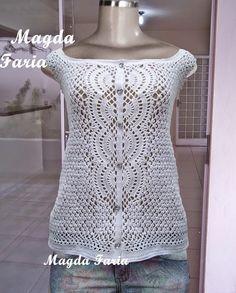 Magda Faria crochet: crochet blusa