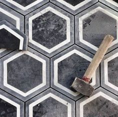 Black Concrete Hexagonal Tiles | Artists that inspire | Pinterest | Concrete.Network | Scoop.it