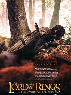 King of Gondor Viggo Mortensen in the Fellowship of the Ring movie poster. #lotr #tolkien