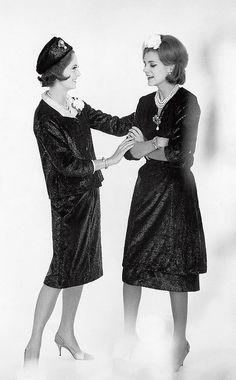 1959  panne velvet ensembles by Chanel