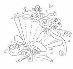 fan embroidery pattern