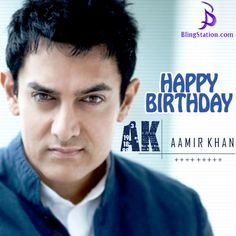 Happy Birthday ‪#‎AamirKhan‬ Mr. Perfectionist of Bollywood! ‪#‎HappyBirthdayAamirKhan‬ ‪#‎BlingStation‬ ‪#‎FashionJewelry‬
