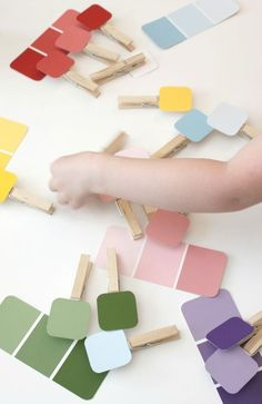 Paint chip matching game – frugal, educational, and fun! Paint chip matching game – frugal, educational, and fun! Dementia Activities, Montessori Activities, Infant Activities, Educational Activities, Preschool Activities, Elderly Activities, Physical Activities, Dementia Crafts, Educational Software
