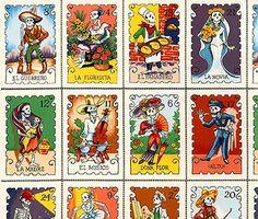 Cartas Marcadas Day of the Dead Cotton Fabric, Alexander Henry FQ | eBay