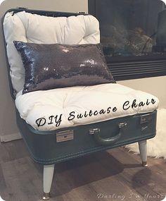 DIY Suitcase Chair  darlingimyours                                                                                                                                                                                 More