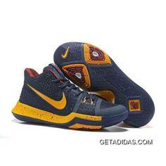 New Release Nike Kyrie 3 Navy Blue Yellow Basketball Shoes On Sale, Adidas Basketball Shoes, Wsu Basketball, Volleyball Shoes, Basketball Legends, Soccer, Michael Jordan Shoes, Air Jordan Shoes, New Jordans Shoes
