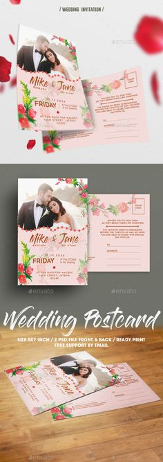 Floral Wedding Invitation , can be used for your wedding or birthday party.File featurexs :images on the preview are not included