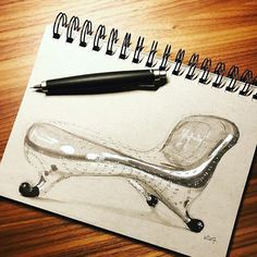 Marc Newson's Lockheed Lounge sketched by the one and only @wrenchbone. . . . #marcnewson #chair #chairs #chairdesign #idsketching #sketch #sketches #sketching #sketchaday #sketchbook #draw #drawing #drawings #doodle #doodles #doodling #artwork #instaart #instadraw #instagood #aluminum #copic #copicmarkers #pencil #pencilsketch #pencildrawing #illustration #designer