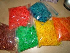 Rainbow Spaghetti Noodles.