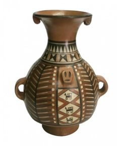 The Inca Aribalo is the most representative of the Inca pottery from utilitarian purpose.