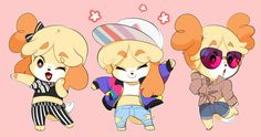 """""""My isabelle fashion drawings in one post"""" Animal Crossing Fan Art, Animal Crossing Memes, Animal Crossing Characters, Animal Crossing Villagers, Game Character, Character Design, Animal Games, Chibi, Comic Artist"""