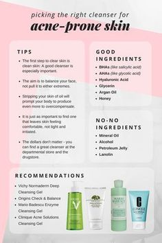 How to choose the best cleanser for acne-prone skin! #TheBeautyAddict