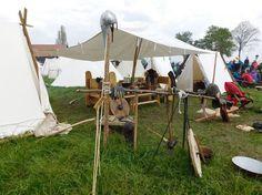 Unser Wikinger Lager auf dem Mittelalter Markt in Stettenfels 2016