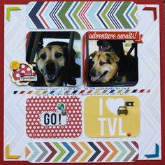 I'm still debating on wether I should do a scrapbook on dogs or best friends, but if I did this I'd keep it kind of the same but change the words on the bottom and maybe change the colours a little bit.