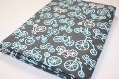 Minky Baby Blanket - Michael Miller It's a Boy Thing Bicycles - You Choose Minky Color - (30 x 32). $39.00, via Etsy.