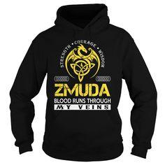 ZMUDA Blood Runs Through My Veins - Last Name, Surname TShirts