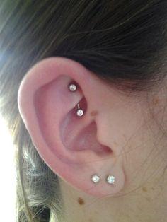 Piercings And Jewelry On Pinterest Rook Piercing Triple