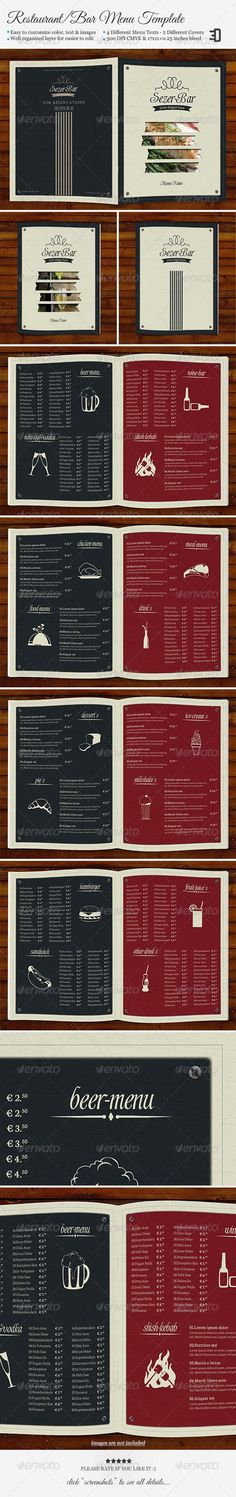 Drink Menu Drink menu, Menu templates and Adobe - bar menu template