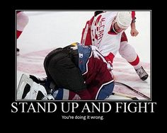 Detroit Red Wings vs. Colorado Avalanche. Amazing fight.