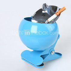 Moda Nuevo Tipo de acero inoxidable con tapa Cenicero Clip - 3 Colores Avaliable - EUR €13.71