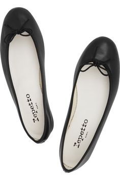leather ballet flats / repetto