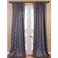 Exclusive Fabrics Seville Print Blackout Curtain Panel Pair (