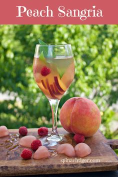 How to Make Peach Simple Syrup for Cocktails, Baking (sugar free option) Peach Sangria Recipes, White Peach Sangria, Peach Drinks, Fun Drinks, Cocktail Recipes, Beverages, Peach Syrup, Make Simple Syrup, Sugar Free Syrup