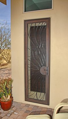 A security screen door...let the cool breeze in, not the riffraff