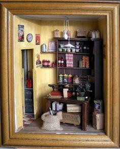 Les vitrines de MiniManie: les commerces