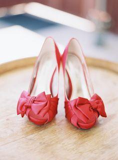 red wedding shoes // photo by Ashley Kelemen
