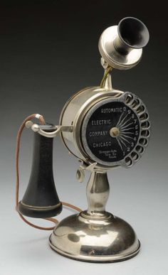 1903 Automatic Electric Co. of Chicago. Strowger Set. Early rotary dial.