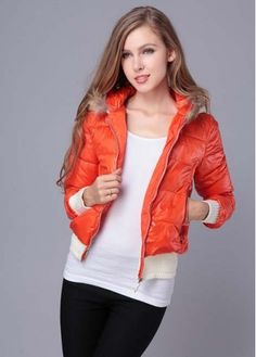 Warm Winter Hooded Collar Orange Red Cotton Coat with cheap wholesale price, buy Warm Winter Hooded Collar Orange Red Cotton Coat at wholesaleitonline.com !