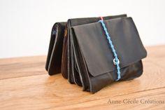 porte-cartes cuir recyclé  élastique