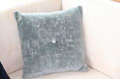 Blue Velvet Pillow Donghia Brooch Blue Velvet by WhimseaCottage