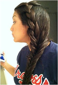 Side Fish Braid Hairstyle