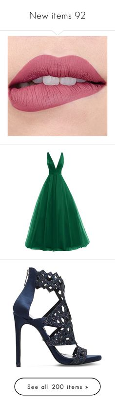 """""""New items 92"""" by cavallaro ❤ liked on Polyvore featuring dresses, gowns, tulle bridal gowns, bridal gowns, formal evening dresses, prom dresses, green ball gown, shoes, sandals and navy strappy sandals"""