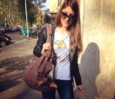 Bellissima la nostra amica Emanuela con la #tshirt mood #dandy!!